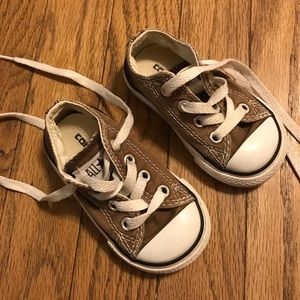 Converse All Star Low Toddler Shoes Size 4K Brown